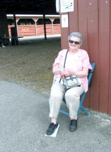 Mom at the 2013 Hamilton County Fair. She thinks she looks horrible in this photo. I think she's a monument to endurance and triumph.