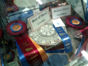 They give the coolest rosettes at the Butler County Fair.