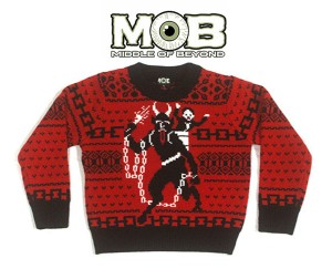 Krampus has truly arrived if he has his own ugly Christmas sweater. Click on the image to learn more at Middle of Beyond.