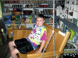 A much-younger J.Hooligan in the general store.