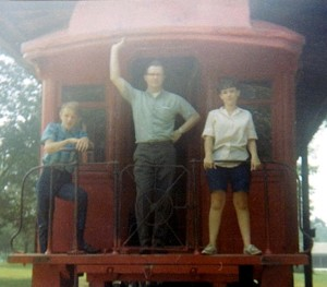 L-R: My cousin Donnie, Uncle Don, and me--probably 1969 near Mammoth Cave. Either Aunt Shirley or my cousin David was snapping the photo.