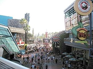 Part of Citywalk, looking toward the theme parks.