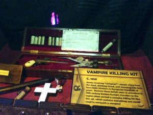 J.Hooligan was quite intrigued by the vampire killing kit.